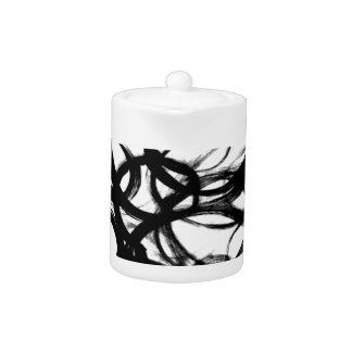 Schwarze Brushstroke-Aquarell-Kreise