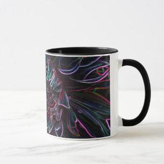 Schwarze Chrysantheme Tasse