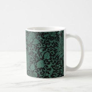 Schwarze Chrysantheme-Tasse Kaffeetasse