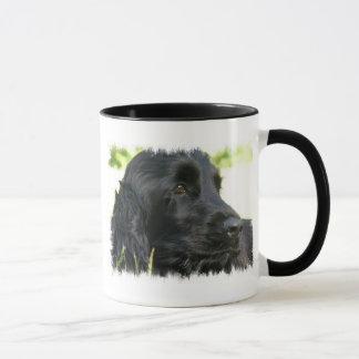 Schwarze Cockerspaniel-Hundekaffee-Tasse Tasse