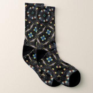 Schwarze dekorative abstrakte Entwurfs-Socken Socken