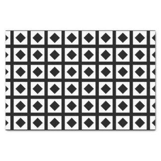 Schwarze Diamanten und weiße Quadrate Seidenpapier
