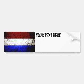 Schwarze die Schmutz-Niederlande-Flagge Autoaufkleber