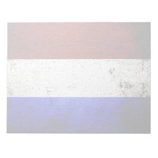 Schwarze die Schmutz-Niederlande-Flagge Notizblock