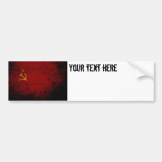 Schwarze die Schmutz-Sowjetunions-Flagge Autoaufkleber