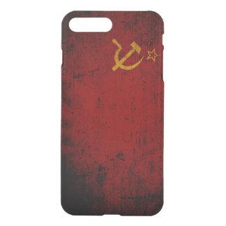 Schwarze die Schmutz-Sowjetunions-Flagge iPhone 8 Plus/7 Plus Hülle