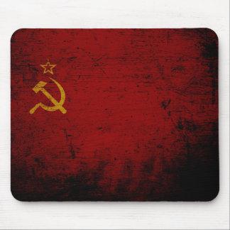 Schwarze die Schmutz-Sowjetunions-Flagge Mauspads