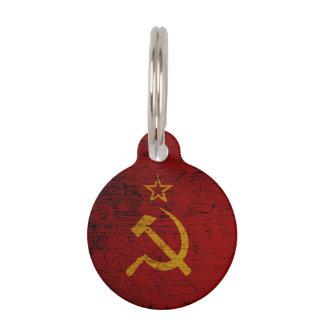 Schwarze die Schmutz-Sowjetunions-Flagge Tiermarke