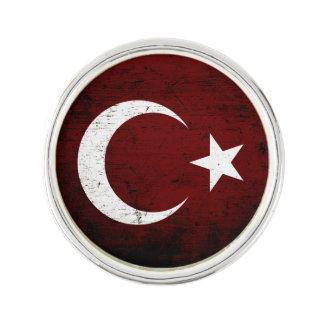Schwarze die Schmutz-Türkei-Flagge Anstecknadel