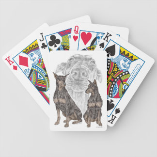 Schwarze Dobermann-Hunde Bicycle Spielkarten