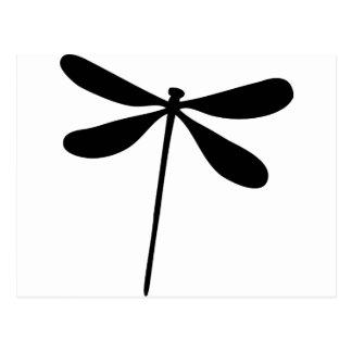 schwarze Drachefliegenikone Postkarte