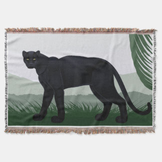 Schwarze Dschungel-Panther-Wurfs-Decke Decke