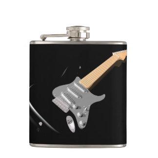 Schwarze E-Gitarren-Flasche Flachmann