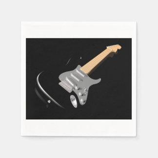 Schwarze E-Gitarren-Papierservietten Servietten