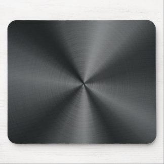 Schwarze Edelstahl-Blick-Metallmuster-Mausunterlag Mousepad