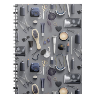Schwarze Eitelkeits-Tabelle Spiral Notizblock