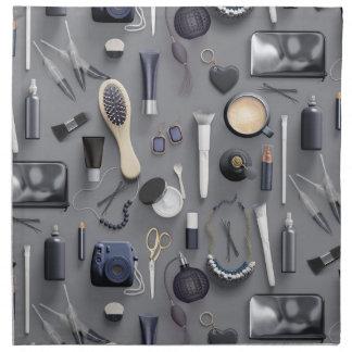 Schwarze Eitelkeits-Tabelle Stoffserviette