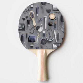 Schwarze Eitelkeits-Tabelle Tischtennis Schläger