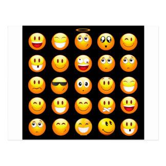 schwarze emojis postkarte