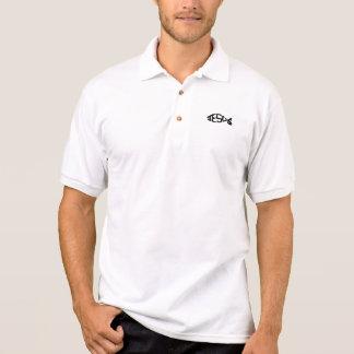 Schwarze Farbe-JESUS-Fisch-Ikonen-christliches Polo Shirt