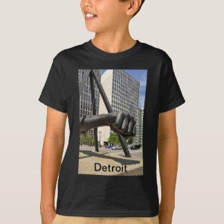 Schwarze Faust Detroit T-Shirt