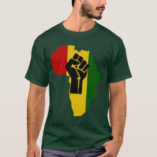 Schwarze Faust-Dunkelheit farbiger T - Shirt