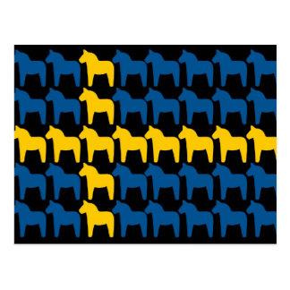 Schwarze Flagge Schwedens Dala Postkarten