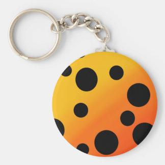 Schwarze Flecken auf gemischtem OrangeToYellow Standard Runder Schlüsselanhänger