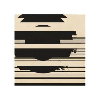 schwarze Flecken Holzwanddeko