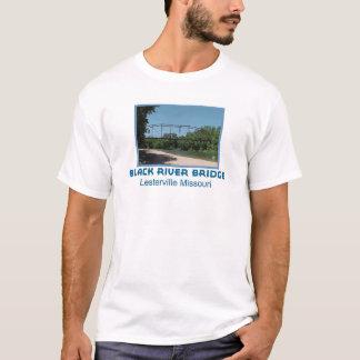 Schwarze Fluss-Brücke T-Shirt