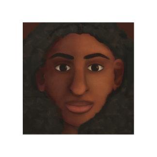 Schwarze Frauen-Aufpassen Holzdruck