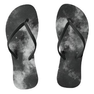 Schwarze Galaxie Flip Flops