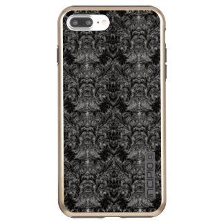 Schwarze Geist-Schatten-Unschärfe-Damast-Illusion Incipio DualPro Shine iPhone 8 Plus/7 Plus Hülle