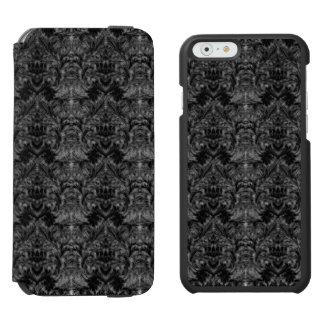 Schwarze Geist-Schatten-Unschärfe-Damast-Illusion Incipio Watson™ iPhone 6 Geldbörsen Hülle