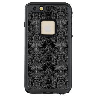 Schwarze Geist-Schatten-Unschärfe-Damast-Illusion LifeProof FRÄ' iPhone 6/6s Plus Hülle