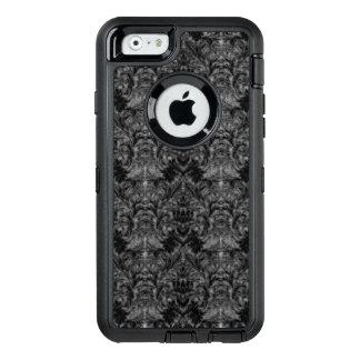 Schwarze Geist-Schatten-Unschärfe-Damast-Illusion OtterBox iPhone 6/6s Hülle