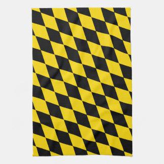 Schwarze gelbe Bayern-Flagge Küchentuch