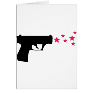 schwarze Gewehrstern-Pistolensterne Grußkarten