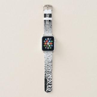 Schwarze gewundene Wirbels-Rückseite - Apple Watch Armband