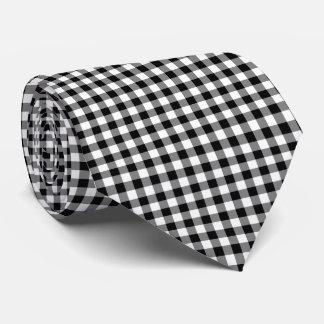 Schwarze Gingham-Krawatte Krawatte