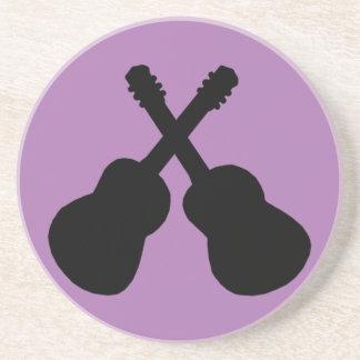 schwarze Gitarren Getränkeuntersetzer