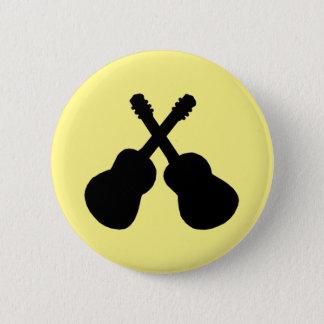 schwarze Gitarren Runder Button 5,7 Cm