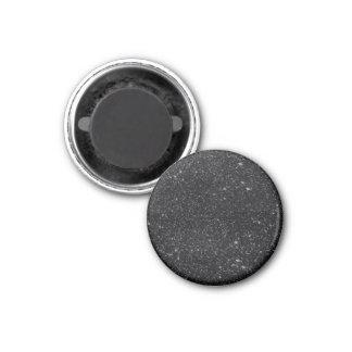 Schwarze Glitzern Runder Magnet 2,5 Cm