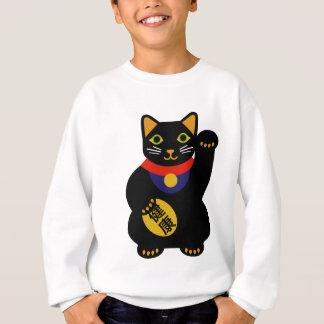 Schwarze glückliche Katze Sweatshirt