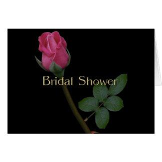 Schwarze Goth Brautdusche 1 Grußkarte
