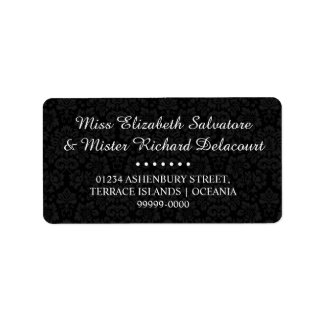 Schwarze gotische viktorianische adressaufkleber