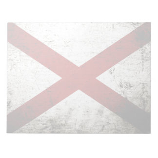 Schwarze Grunge-Alabama-Staats-Flagge Notizblock