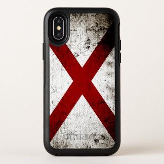 Schwarze Grunge-Alabama-Staats-Flagge OtterBox Symmetry iPhone X Hülle