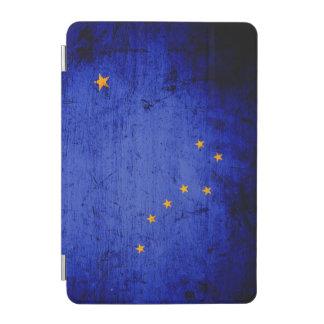 Schwarze Grunge-Alaska-Staats-Flagge iPad Mini Hülle