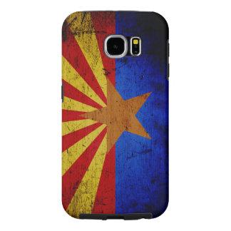 Schwarze Grunge-Arizona-Staats-Flagge